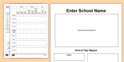 end of the year report template end of year report template