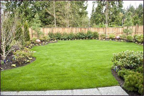 Landscaping Ideas Backyard by Green Grass For Wide Back Garden Ideas 2833