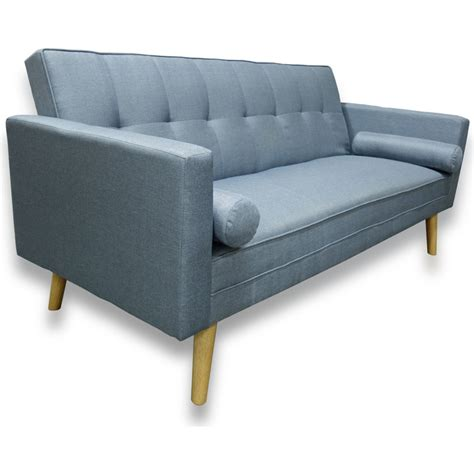 sofa bed click clack amy click clack fabric sofa bed with 2 pillows blue buy