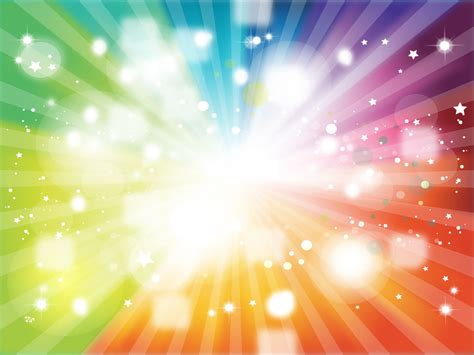 super colorful rainbow stars background