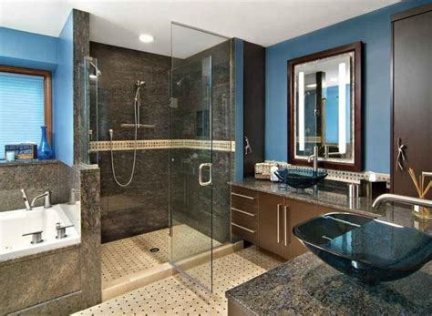 Brown Blue Bathroom Ideas Brown Blue Bathroom Photos
