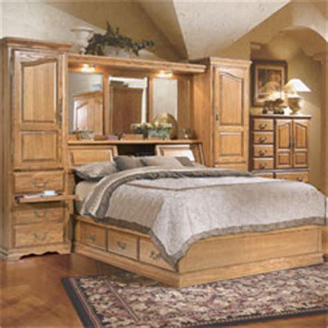king pier bedroom set traditional solid oak headboards american made