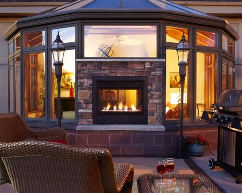 modern indoor fireplace outdoor lifestyles twilight modern outdoor indoor