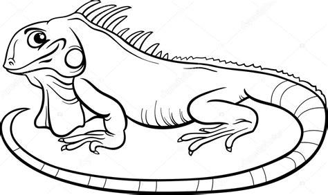 Iguana Cartoon Coloring Book Stock Vector 169 Izakowski Coloring Pages Vector