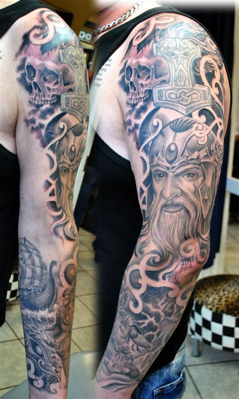 warrior tattoo sleeve designs viking sleeve in progress by gettattoo norse