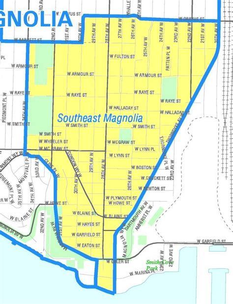 seattle map magnolia file seattle southeast magnolia map jpg wikimedia commons