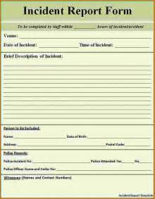 Post Incident Report Template by 10 Incident Report Form Template Word Bibliography Format