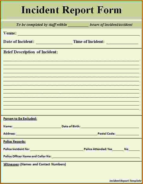 post incident report template 8 incident report template word bibliography format