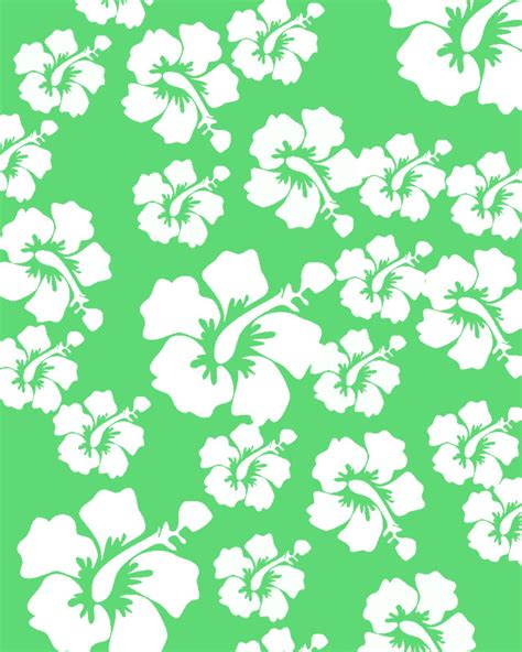hawaii pattern background hawaii flower clip art background pattern graphics green