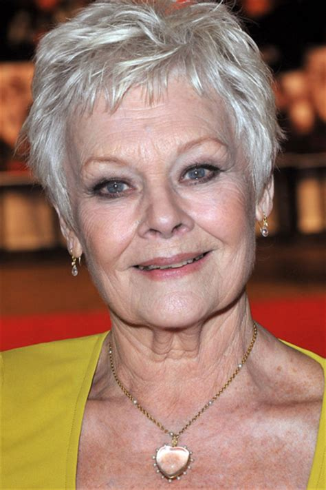 judy dench grey hairstyles celebrities with gray hair from youbeauty com