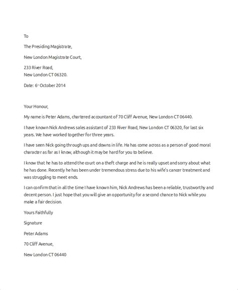 Moral Support Letter Sle reference letter template sle 28 images recommendation