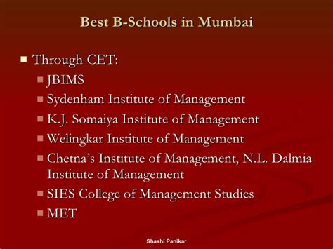 Top 25 Mba Colleges In Mumbai by Career Opportunities Presentation By The Economics Club