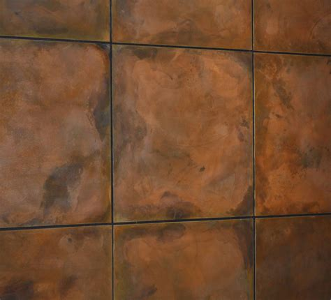 copper walls burnt copper z clipped floating steel wall panels