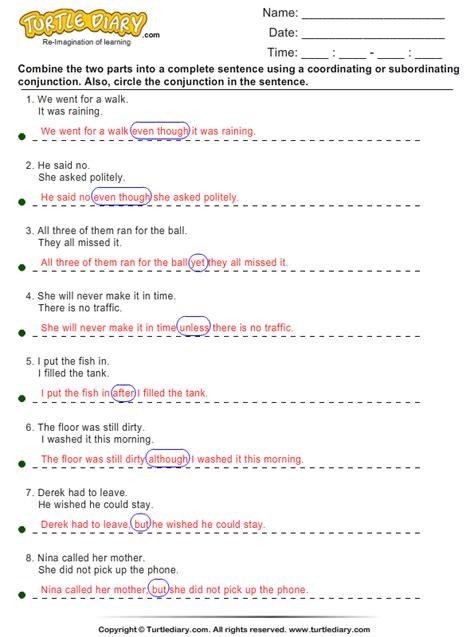 Combining Sentences Worksheet by Sentence Combining Worksheet Turtle Diary