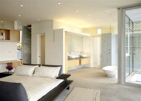Open Bedroom Bathroom Design Open Bathroom Concept For Master Bedrooms
