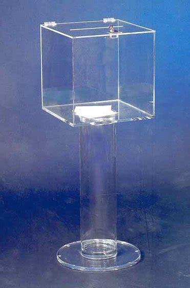 kotak amal by acrylic floor standing acrylic donation box id 5034659 product