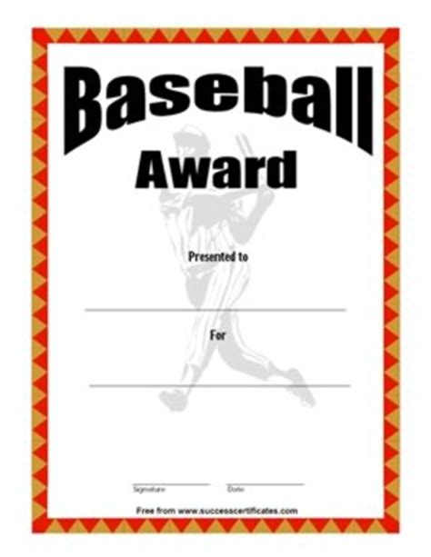 baseball certificate template baseball award certificate 2 success certificates