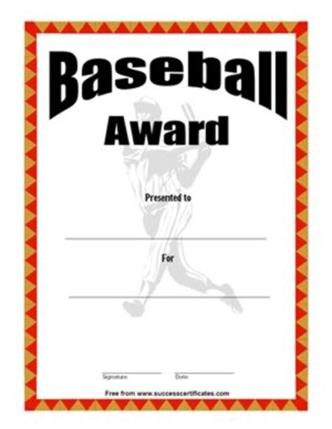 baseball award certificate 2 certificate templates
