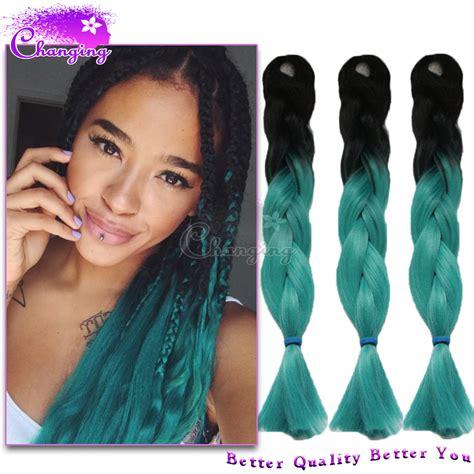 is expression hair better than kanakalon cheap green braiding hair 100g pc box braid extensions two