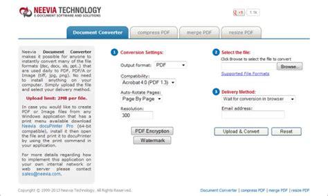 convert pdf to word neevia online pdf converter review