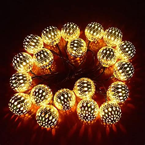 Ucharge Globe String Lights 20led 25ft Led Christmas Decorative String Lights For Patio