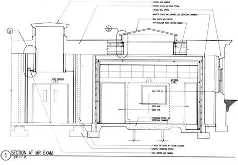Architect Firms mri room section bruce f roth architect