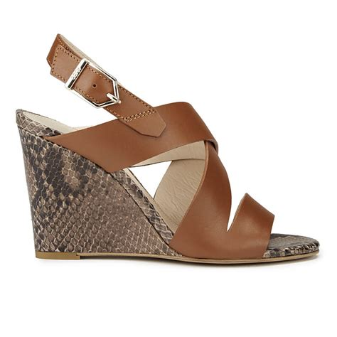 printable clarks vouchers hugo women s vertic snake print leather wedged sandals