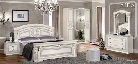 Aida White W Silver Camelgroup Italy Classic Bedrooms Classic White Bedroom Furniture