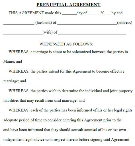 Prenuptial Agreement Template top 5 resources to get free prenuptial agreement templates