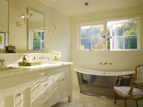 double bathroom vanity  backsplash shelf transitional bathroom ken linsteadt architects