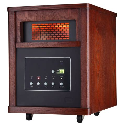 Small Heater With Remote Ecotronic 1500 Watt 6 Element Infrared Electric Portable