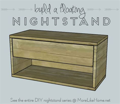 floating nightstand with drawer diy more like home nightstands day 9 floating nightstand