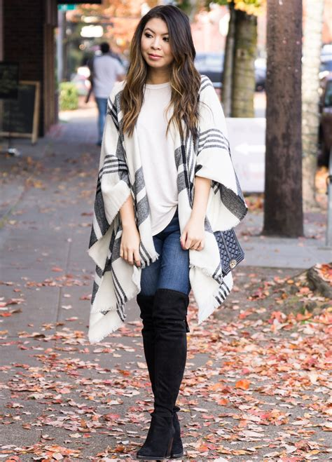 stylish ponchos  fall including    plaid