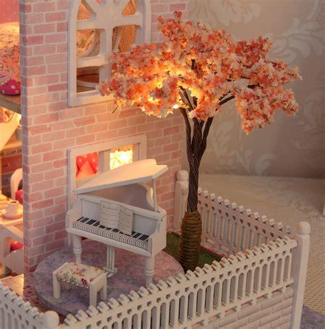 Handmade Wooden Decorations - cuteroom diy wooden dollhouse pink cherry handmade