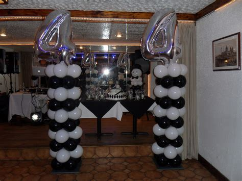 black and silver party decorations promotion