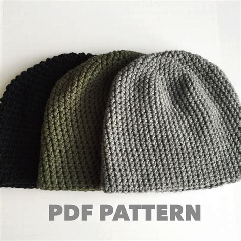 pattern crochet mens hat pattern mens easy hat crochet beanie seamless simple basic