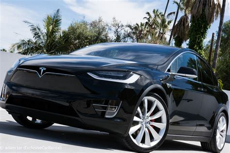 Renting Tesla Telsa Model X Rental Exclusive Car Rental