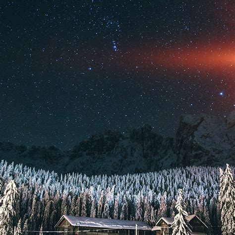 Cold Winter Essay by Nk17 Mountain Sky Space Cold Winter Blue Flare Wallpaper