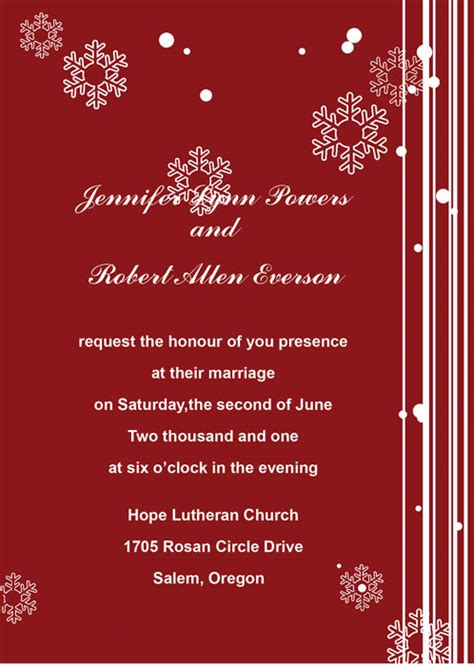 Affordable Winter Wedding Invitations Online At Elegant