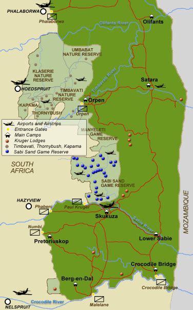 kruger national park map map of the kruger national park