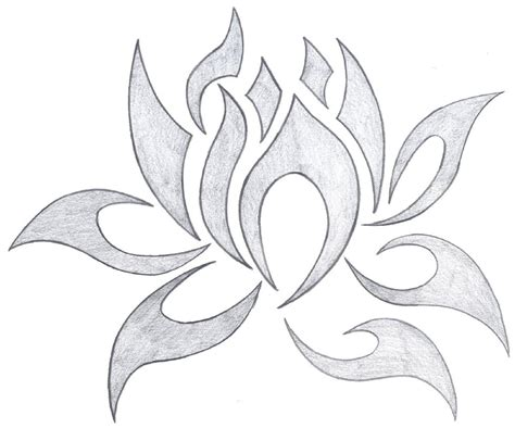 tribal lotus tattoo designs 28 tribal lotus tattoos collection