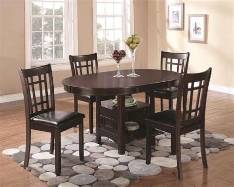 coaster lavon 102671 dining table with storage dunk