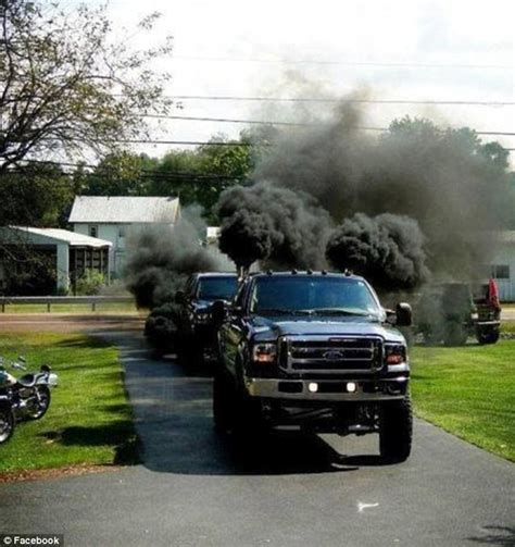 black smoke belching ups built by anti