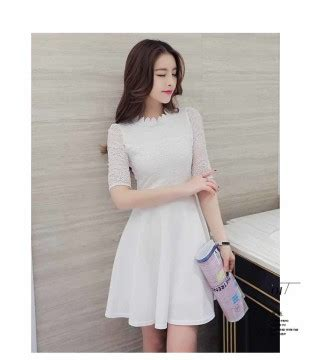 Dress Putih dress putih import 2016 model terbaru
