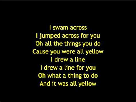 coldplay yellow testo coldplay yellow lyrics letras testo songs net