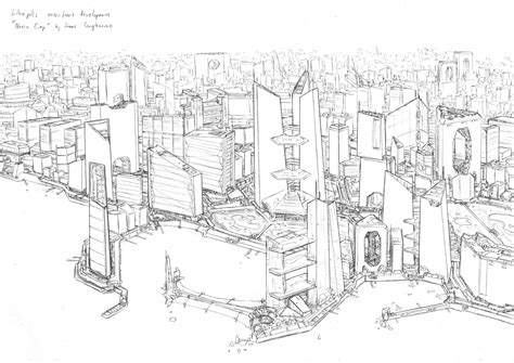 Sketches 4k by Neon City Sketch By Penuser On Deviantart