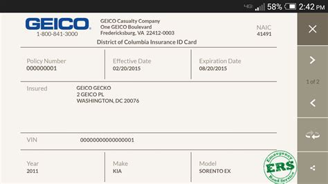 geico car insurance card template multi car insurance geico temporary car insurance