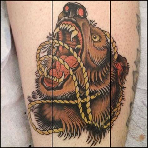 traditional bear tattoo best traditional angry idea