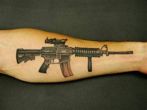 m16 tattoo designs ar 15 m16 tattoos ar 15 and