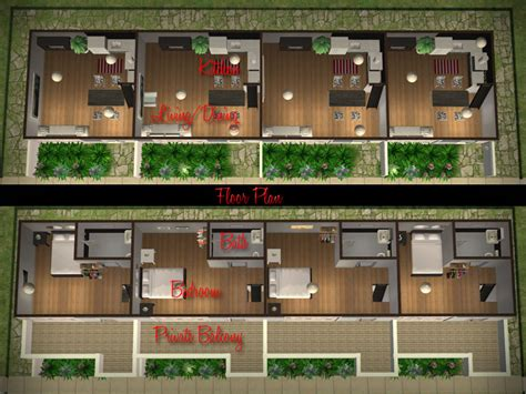 sims 2 house floor plans mod the sims affordable modern apartment row low rent